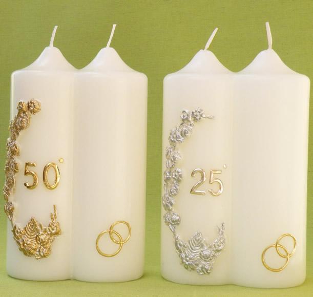 candele per matrimonio e anniversari cereria giovanelli